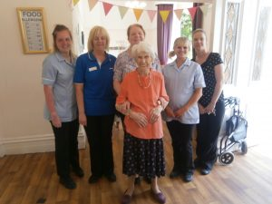Resident at the Clough Celebrates 105th Birthday!